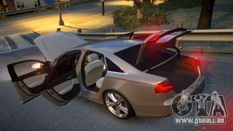 Audi S6 v1.0 2013 für GTA 4 Innenansicht