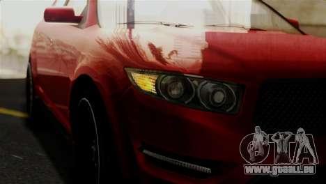 Vapid Interceptor v2 IVF pour GTA San Andreas vue arrière
