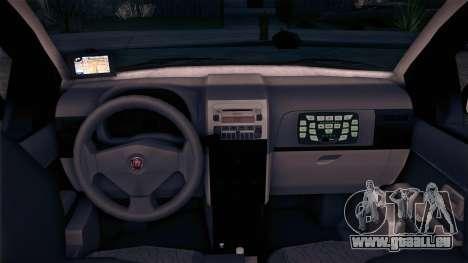 Fiat Siena 2011 pour GTA San Andreas sur la vue arrière gauche