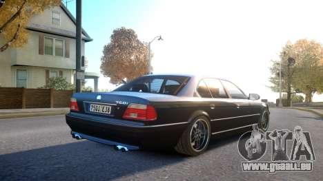 BMW 750i e38 1994 Final für GTA 4 rechte Ansicht