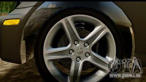 Lexus IS300 Tunable pour GTA San Andreas vue arrière