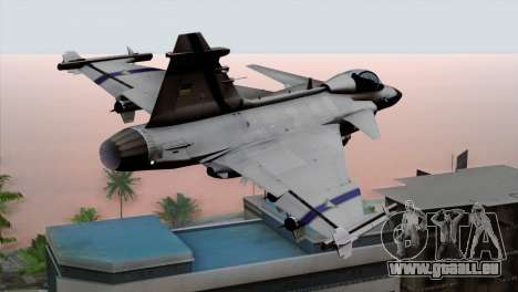 Saab 39 Gripen Custom Indigo Squadron für GTA San Andreas linke Ansicht