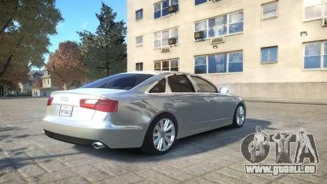 Audi A6 2012 v1.0 pour GTA 4 Vue arrière
