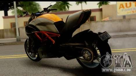 Ducati Diavel 2012 pour GTA San Andreas laissé vue