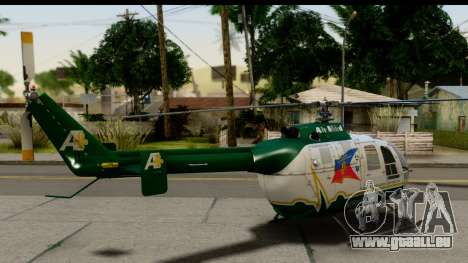MBB Bo-105 Air Med für GTA San Andreas linke Ansicht