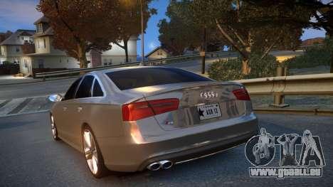 Audi S6 v1.0 2013 für GTA 4 hinten links Ansicht