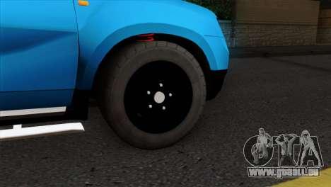 Dacia Duster Van für GTA San Andreas zurück linke Ansicht