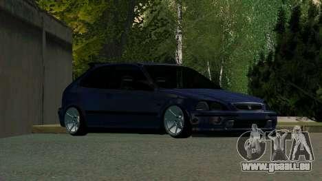 Honda Civic EK9 pour GTA San Andreas laissé vue