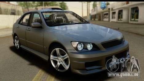 Lexus IS300 Tunable pour GTA San Andreas vue de dessus