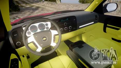 Chevrolet Silverado 1500 LT Extended Cab wheels1 pour GTA 4 Vue arrière
