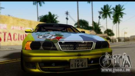 Toyota Chaser Tourer V Fail Crew pour GTA San Andreas sur la vue arrière gauche