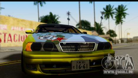 Toyota Chaser Tourer V Fail Crew für GTA San Andreas zurück linke Ansicht
