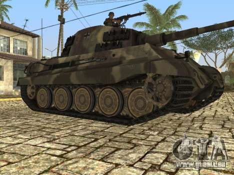Panzerkampfwagen Tiger II pour GTA San Andreas sur la vue arrière gauche