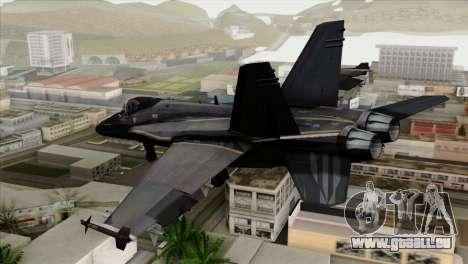 FA-18 HARV pour GTA San Andreas laissé vue