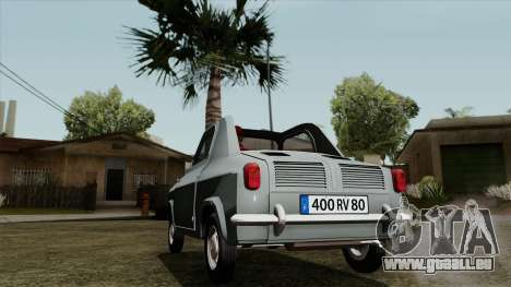 Vespa 400 für GTA San Andreas zurück linke Ansicht