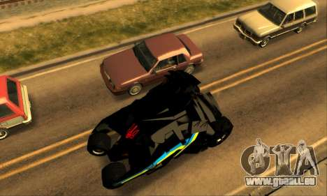 The Tumbler UA Style pour GTA San Andreas vue arrière
