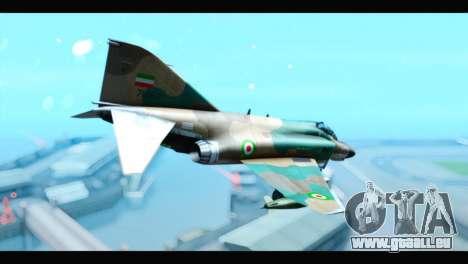 McDonnell Douglas F-4 IRIAF pour GTA San Andreas laissé vue