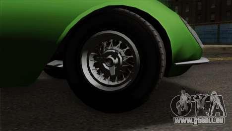 GTA 5 Grotti Stinger GT v2 pour GTA San Andreas sur la vue arrière gauche