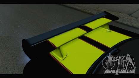 Nissan Skyline R34 BudMat pour GTA San Andreas vue arrière