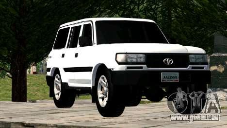 Toyota Land Cruiser 80 pour GTA San Andreas vue arrière