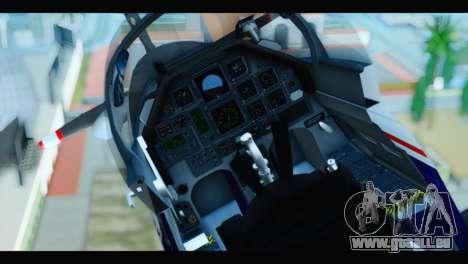Beechcraft T-6 Texan II US Air Force 2 für GTA San Andreas Rückansicht