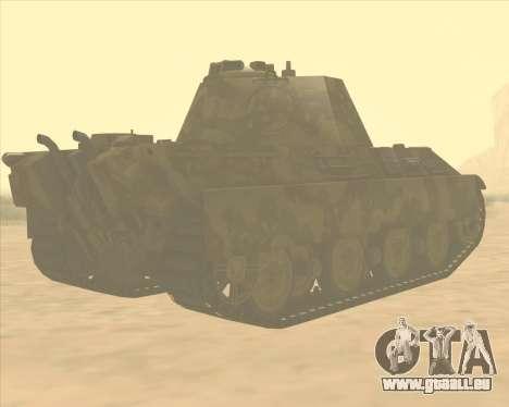 Pz.Kpfw. V Panther II Desert Camo pour GTA San Andreas vue de droite