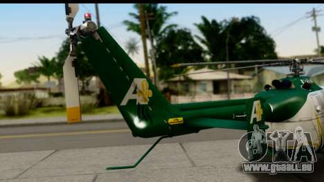 MBB Bo-105 Air Med für GTA San Andreas zurück linke Ansicht