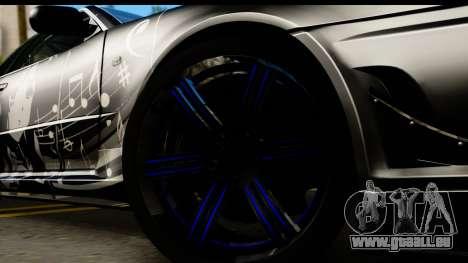 Nissan Skyline GT-R BNR34 Mio Akiyama Itasha pour GTA San Andreas vue arrière