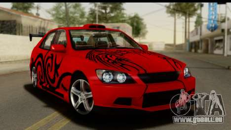 Lexus IS300 Tunable pour GTA San Andreas