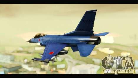 Mitsubishi F-2A JASDF Blue v2.0 für GTA San Andreas linke Ansicht