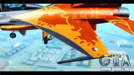 F-16D Fighting Falcon Dutch Demo Team J-015 für GTA San Andreas Rückansicht