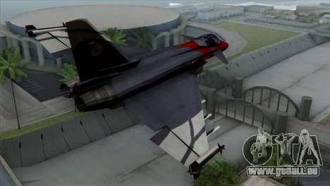 Eurofighter Typhoon 2000 pour GTA San Andreas laissé vue
