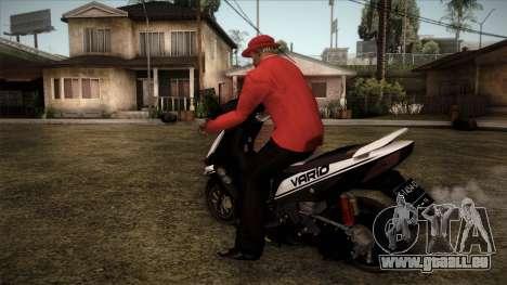 Honda Vario pour GTA San Andreas laissé vue