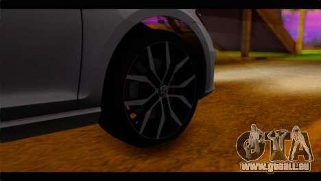 Volkswagen Golf 7 pour GTA San Andreas sur la vue arrière gauche