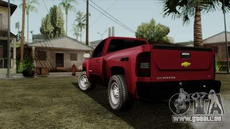 Chevrolet Silverado Cabina Sencilla pour GTA San Andreas laissé vue
