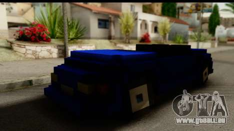 Minecraft Car für GTA San Andreas