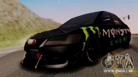 Mitsubishi Lancer Evo IX Monster Energy pour GTA San Andreas