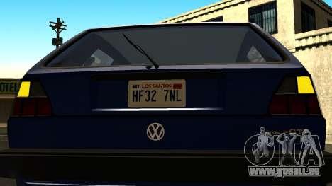 Volkswagen Golf Mk2 für GTA San Andreas Seitenansicht