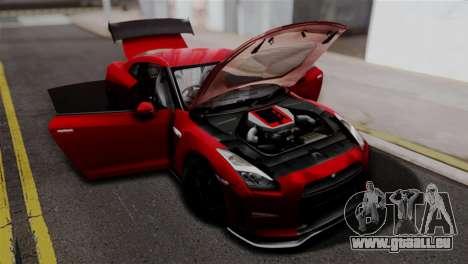 Nissan GTR Nismo 2015 für GTA San Andreas rechten Ansicht