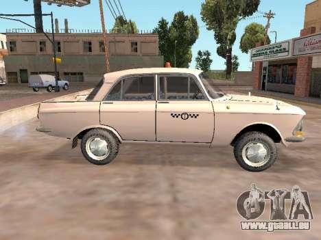 Moskvitch 412 Cabine pour GTA San Andreas laissé vue