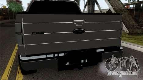 Ford F-150 4X4 Off Road für GTA San Andreas Rückansicht