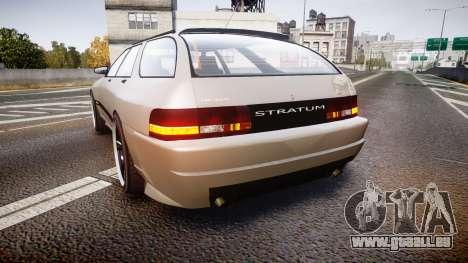 Zirconium Stratum GT pour GTA 4 Vue arrière de la gauche