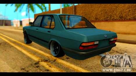 BMW 535is pour GTA San Andreas laissé vue