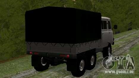 UAZ 39094 6X6 Dream hunter für GTA San Andreas zurück linke Ansicht