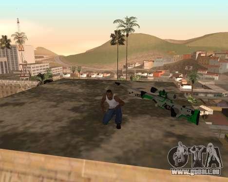 Green Pack Asiimov CS:GO pour GTA San Andreas deuxième écran