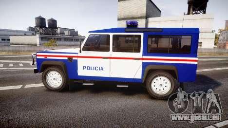 Land Rover Defender Policia PSP [ELS] pour GTA 4 est une gauche