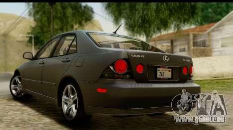 Lexus IS300 Tunable pour GTA San Andreas laissé vue