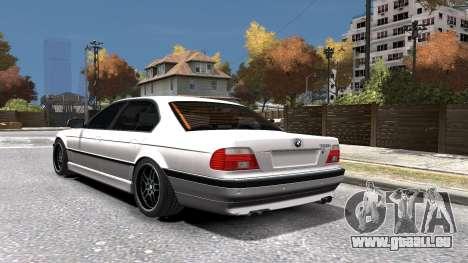 BMW 750i e38 1994 Final für GTA 4 Unteransicht