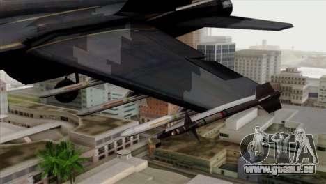 FA-18 HARV pour GTA San Andreas vue de droite