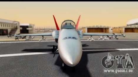 McDonnell Douglas FA-18C Hornet VMFA-232 USMC pour GTA San Andreas vue arrière